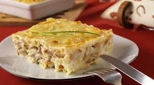 cuisine pates recette gratin de pâtes au poulet et kiri plat