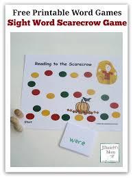 scarecrow writing paper free printable word games sight word scarecrow game free printable word games sight word scarecrow