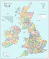 Channel Islands Map British Isles Political Large Wall Map Xyz Maps