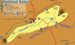 negev desert map makhtesh ramon