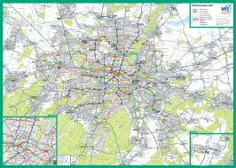 Munich Germany Map by Large Scale Detailed Public Transport Network Map Of Munich City