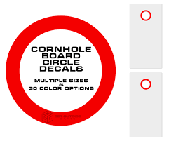sizes options board circle decals set of 2 sizes 30 color