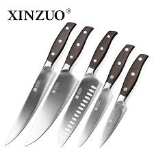 stainless steel kitchen knives set xinzuo stainless steel kitchen knife set 5 pc set kitchenware