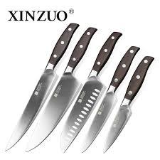 xinzuo stainless steel kitchen knife set 5 pc set kitchenware