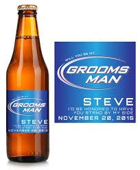 bud light bottle oz bud light groomsman beer label icustomlabel
