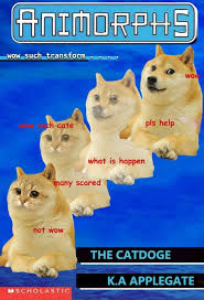 Cate Meme - doge transforms into cat doge with animorphs power