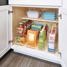 narrow depth kitchen storage cabinet idesign linus storage bins 6 set