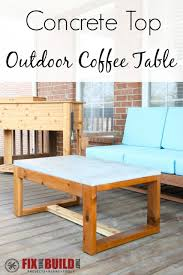 diy outdoor coffee table diy concrete top outdoor coffee table fixthisbuildthat