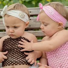 monogram headband monogram baby wrap headband personalized baby headbands