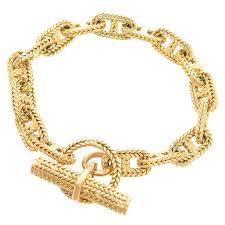 gold bracelet hermes images Hermes chaine d 39 ancre gold medium link bracelet at 1stdibs jpg