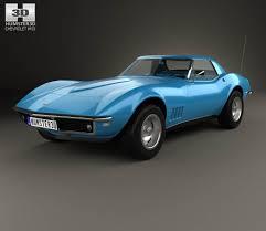 1968 corvette interior chevrolet corvette с3 convertible with hq interior 1968 3d model