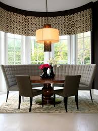 Dining Room Sets With Bench Seating by Kitchen Contemporary Banquette Window Treatments With Green