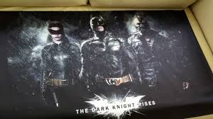 How To Hang Fabric On Walls Without Nails by The Dark Knight Rises Silk Fabric Movie Poster Youtube
