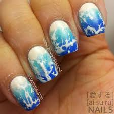 beach themed nail art scottishpolice