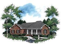 ranch home plans with front porch splendid 8 brick house plans with front porch downey ranch home plan