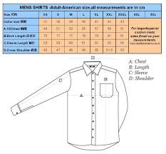 us mens shirt size chart socialmediaworks co
