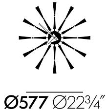 Herman Miller Clock Vitra George Nelson Clock Spindle Clock Modern Planet