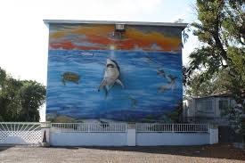 3d shark mural shoestring weekends blog 3d shark mural