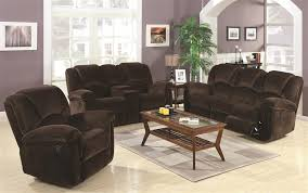 Reclining Sofa Loveseat Sets 2 Reclining Sofa Loveseat Set In Chocolate Velvet Fabric By