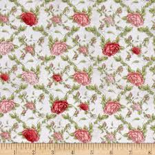 quilting treasures la vie en rose trellis grey floral 100
