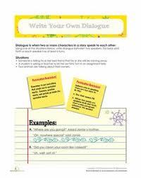 writing dialogue third grade third grade writing and worksheets
