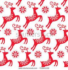scandinavian folk art christmas vector pattern stock vector