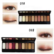 10 color smoky glittle pearly makeup eye shadow palette matte