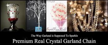 Chandelier Strands Crystal Garland Chain Strands Crystal Prism World