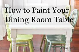 painting dining room table