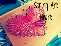string art heart youtube diy and crafts pinterest string