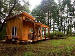 elegant tiny house has gallery mt hood tiny house village