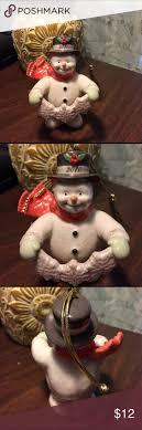 lenox snowman ornament 2010 scentsy black fedora and green sandals