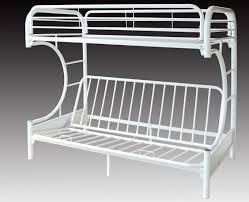C FUTON METAL BUNK BED FRAME WHITE BRAND NEW WINNIPEG FURNITURE - Metal bunk beds with futon