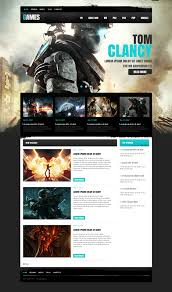 game portal moto cms html template 41450
