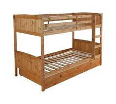 Buy HOME Detachable Single Bunk Bed Frame With Storage Pine At - Single bunk beds