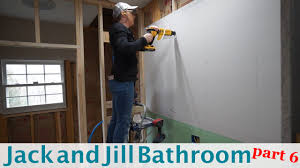Jack And Jill Bathroom Designs by Jack And Jill Bathroom Remodel Part 6 Youtube