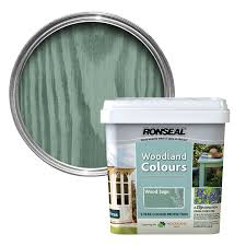ronseal woodland colours wood sage matt wood stain 5l
