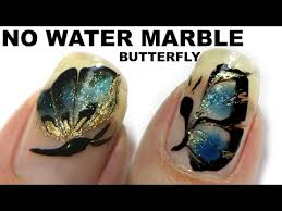 no water marble nail art butterfly tutorial 2 youtube nail art