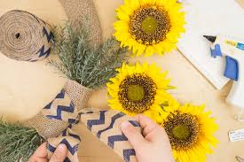 burlap sunflower wreath diy sunflower wreath with burlap for summer decor darice