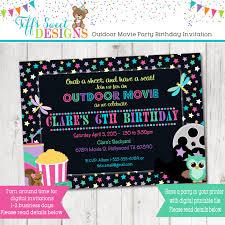 movie birthday party invitations alanarasbach com