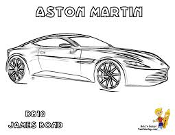 aston martin coloring pages