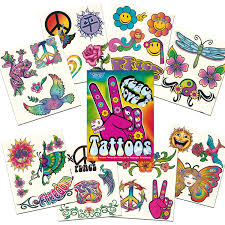 amazon com hippie temporary tattoos party favor and costume set