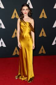 lily collins in amanda wakeley at the 2016 governors awards tom