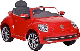 volkswagen new beetle engine amazon com rollplay vw beetle 6 volt battery powered ride on red