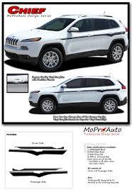 maroon jeep cherokee 2016 chief jeep cherokee upper body line vinyl graphics decal stripe