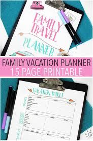 The ultimate printable vacation planner for families sunny day