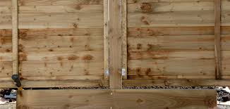 how to fix wood paneling erecting a fence wickes co uk