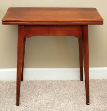 expandable game table cherry flip top game table by cushman colonial ebth