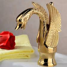 Swan Faucet Gold Swan Classic Bathroom Sink Faucet With Lever Handle