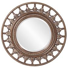 Round Mirrors Unique Round Mirror With Antique Accents Hre 077 Accent Mirrors